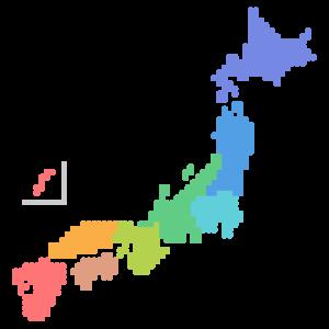 ドットの日本地図